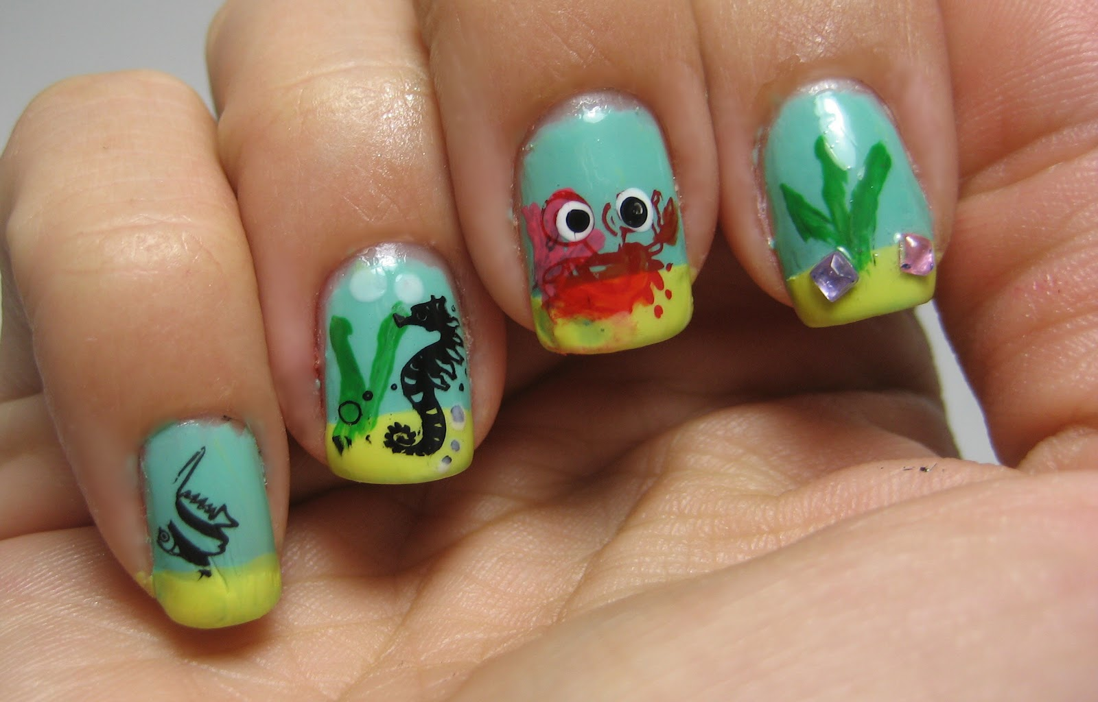 Amazing 19 Ocean Toe Nail Designs Images Toe Nail Designs With