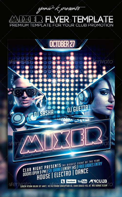 16 Club House Flyer PSD Images - Free Psd Party Flyer Template, Free