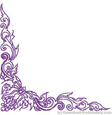11 Purple Corner Border Designs Images - Purple Flower Corner