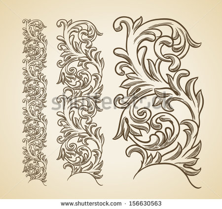 14 Filigree Art Designs Images - Filigree Scroll Baroque Engraving - baroque scroll designs