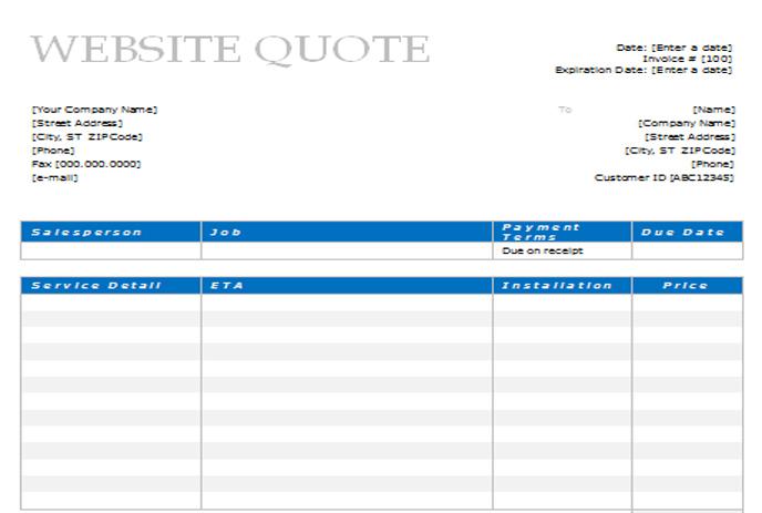 sample project quotation - fototango - design quotation sample