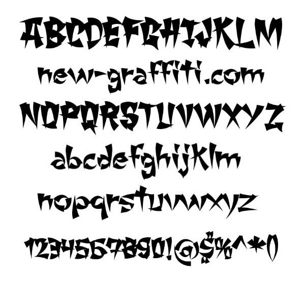 16 Font Styles Alphabet Images - Graffiti Letters Styles Fonts
