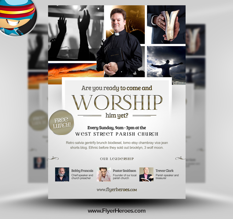 Church Brochure Templates Freechurch Revival Flyer Template
