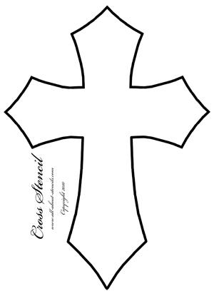 13 Cross Stencil Designs Images - Cross Tattoo Stencil Designs, Free