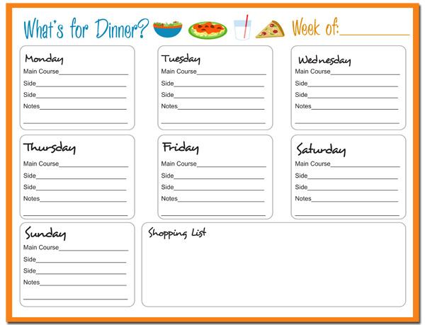 free meal planner printable - Romeolandinez - printable meal planner