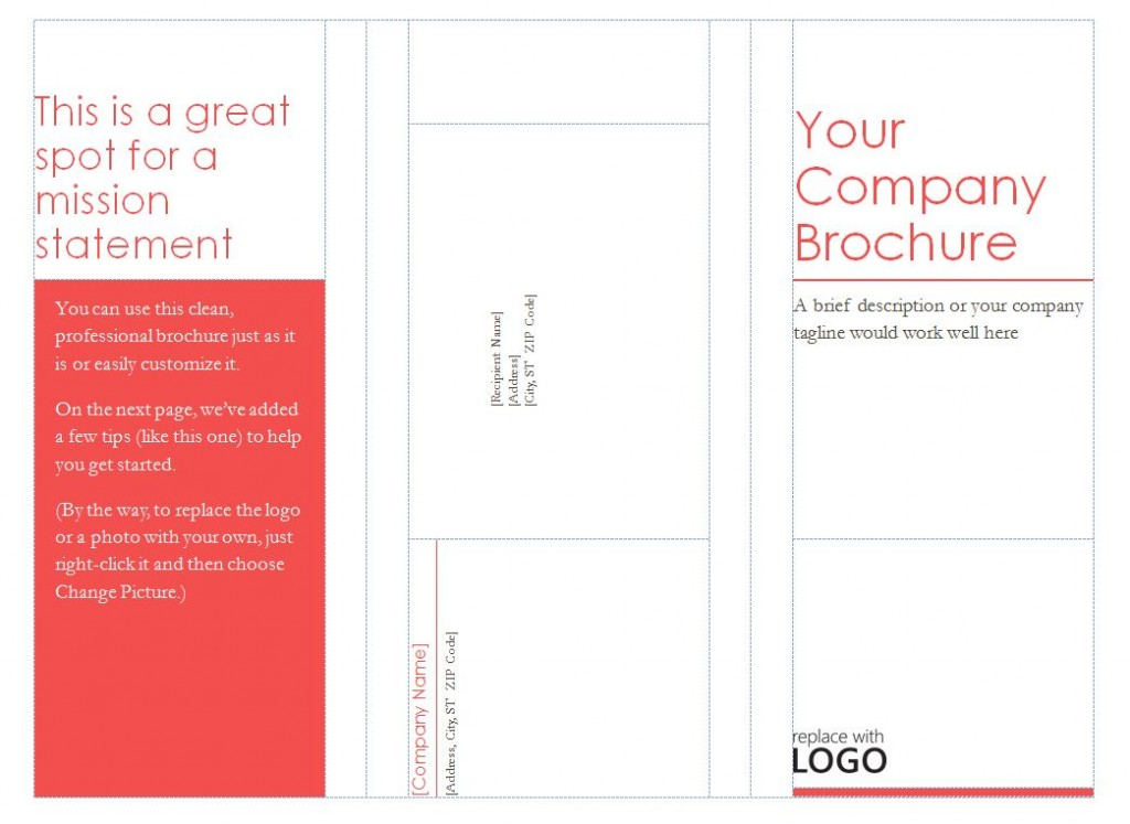 13 Tri-Fold Brochure Template Images - Blank Tri-Fold Brochure