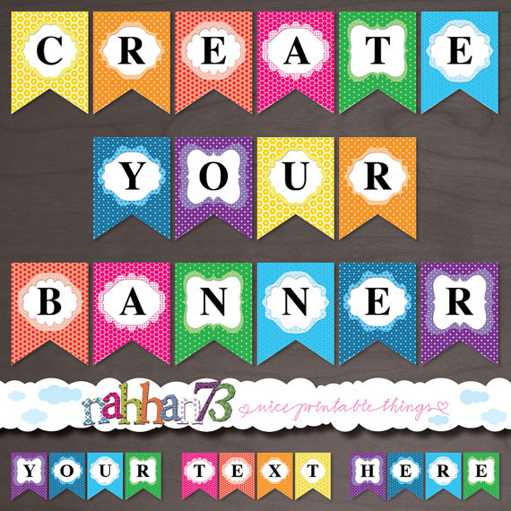 make your own birthday banner free