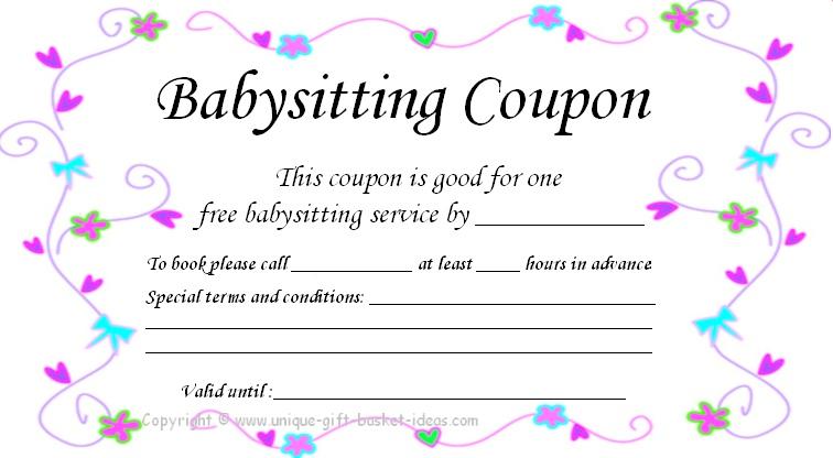 17 Blank Babysitting Card Template Design Images - Printable