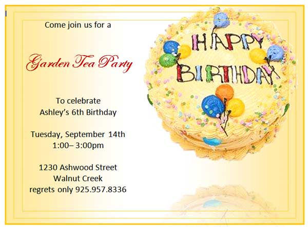 17 Free Birthday Templates For Word Images - Free Birthday