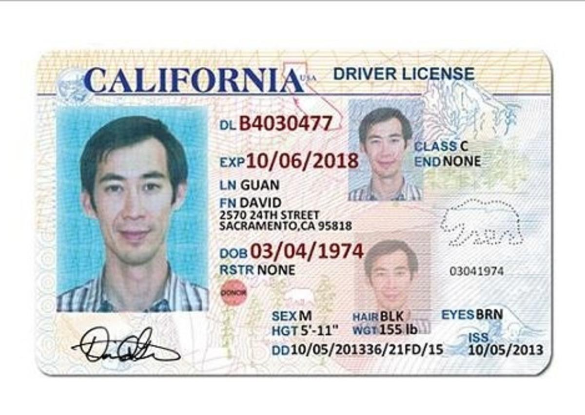 California Id Template Erieairfair