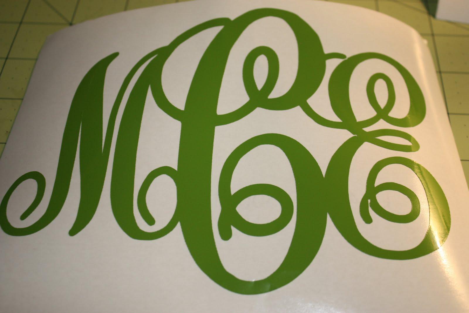 cricut monogram font cartridge