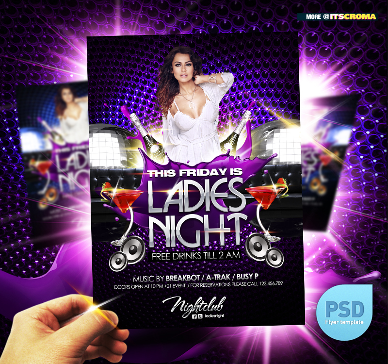 18 PSD Club Flyer Backgrounds Images - PSD Club Flyer Templates Free