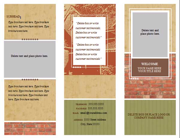15 Pamphlet Templates Free Images - Pamphlet Brochure Templates Free