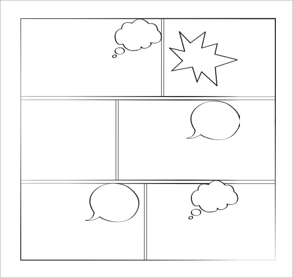 14 Comic Book Template PSD Images - Comic Book Layout Template