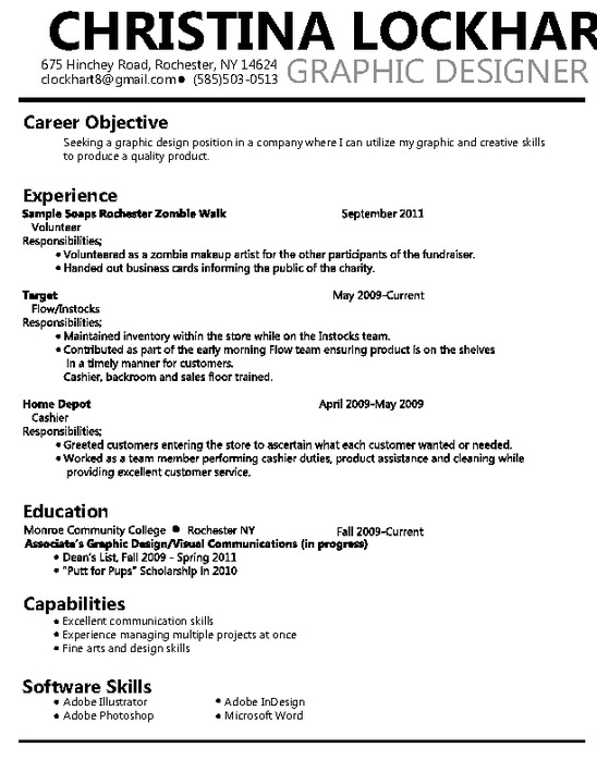 17 Graphic Design Resume Objective Images - Graphic Design Objective