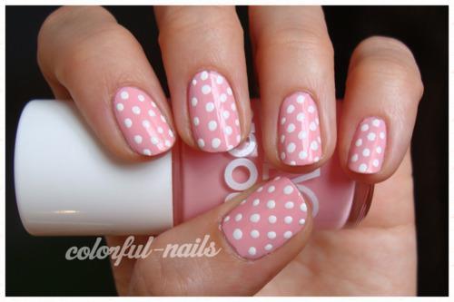 14 Pink Polka Dot Nail Designs Images Nail Art Design