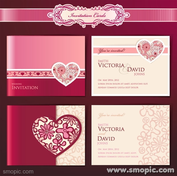13 Download Free Wedding Invitation Cards Designs Images - Flower