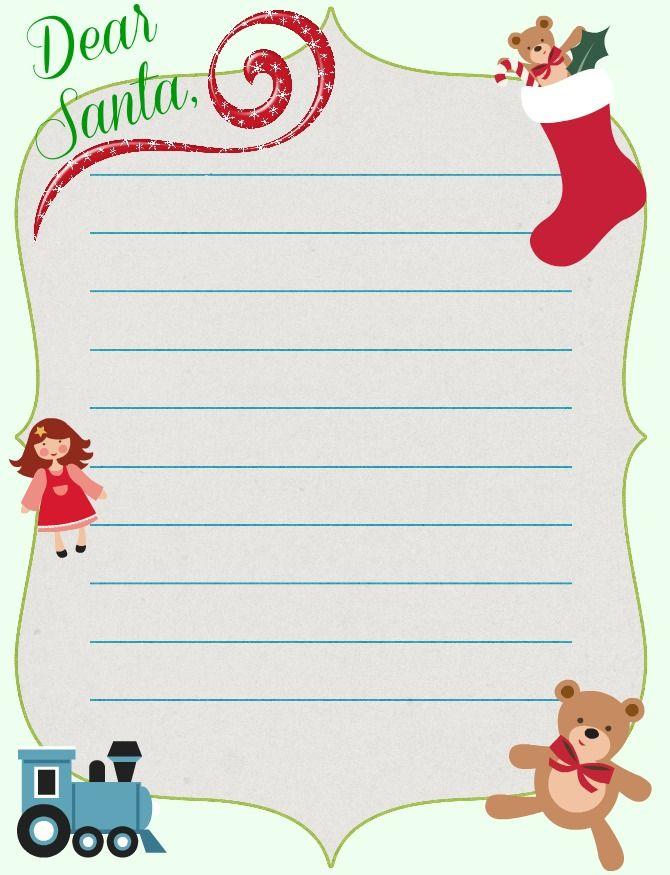 19 Free Printable Christmas Letter Templates Images - Free Printable