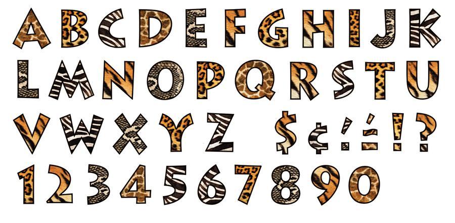11 Printable Animal Print Fonts Images - Animal Print Letters Font