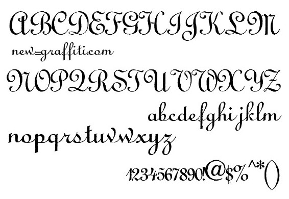 13 New Calligraphy Fonts Alphabet Printable Images - Printable