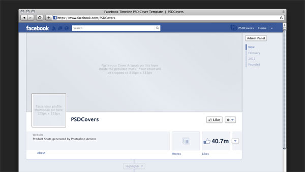19 Facebook Timeline Cover Template Photoshop PSD Images - Facebook