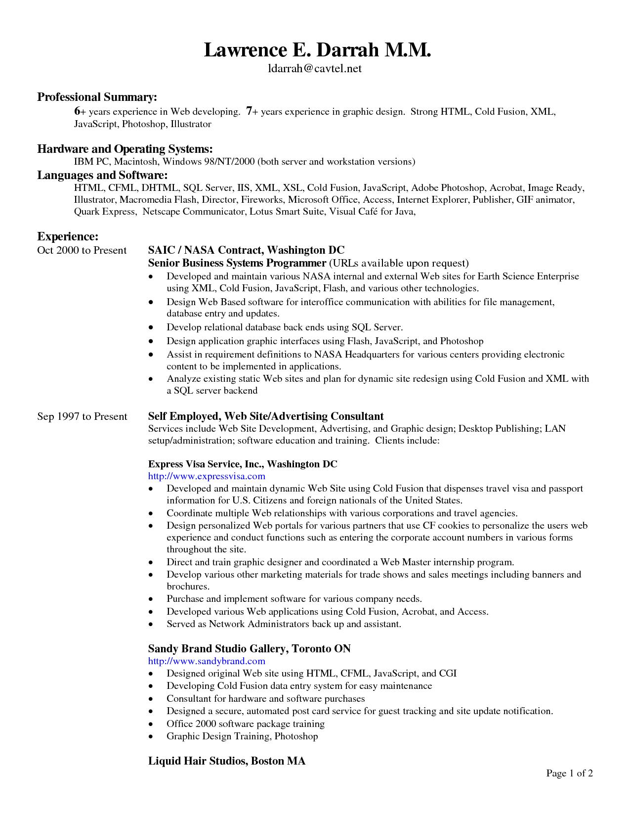 resume headings order