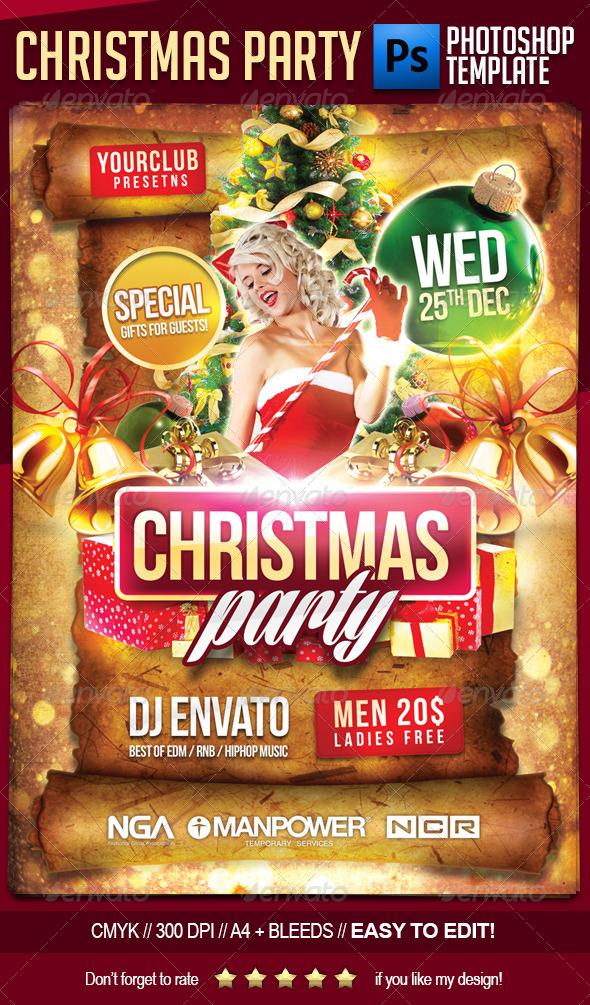 16 Printable Christmas Party Flyer Templates Images - Free Printable - holiday party flyer template