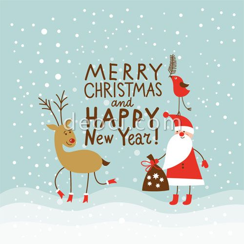 17 Christmas Cards Graphic Design Images - Best Christmas Card