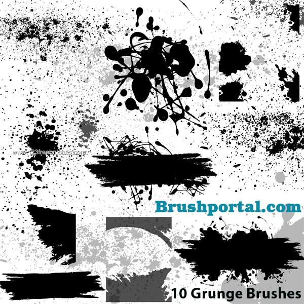 10 Photoshop Brushes Free Download Images - Flower Brushes Photoshop
