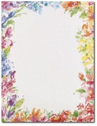 10 Flower Border Design Paper Images - Flower Page Border ...