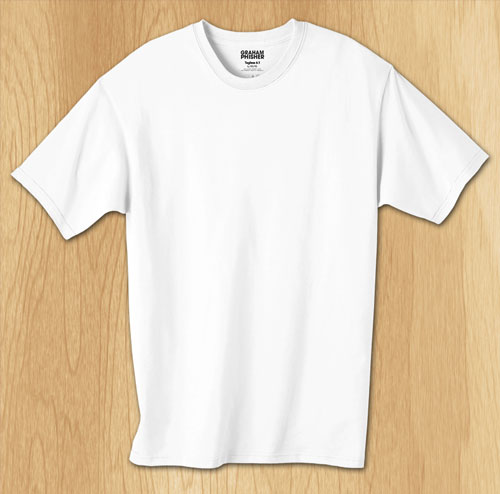 13 White T-Shirt PSD Template For Free Images - White T-Shirt