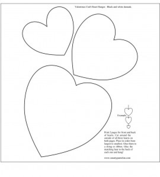 11 Valentine Heart Template Images - Free Printable Valentine Hearts