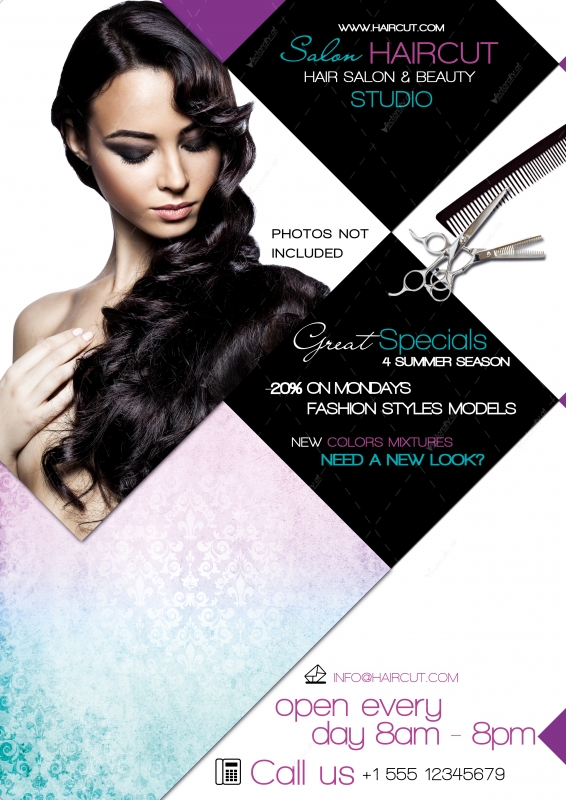 Hair Salon Flyer Templates Insssrenterprisesco - Hair salon brochure templates