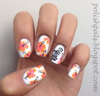 12 Hawaiian Flower Nail Designs Images - Hawaiian Flower ...