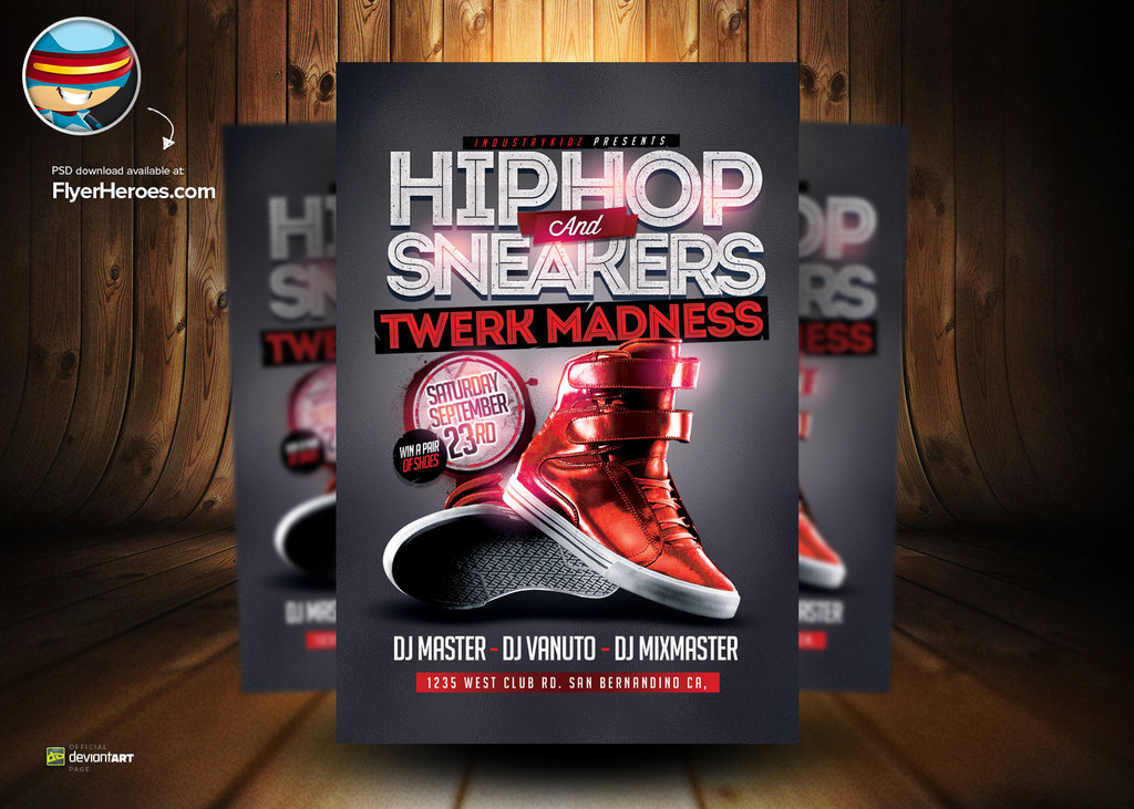 7 Hip Hop PSD Photoshop Images - Hip Hop Flyer Templates, Hip Hop