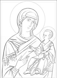 15 Byzantine Icons Religious Coloring Pages Images ...
