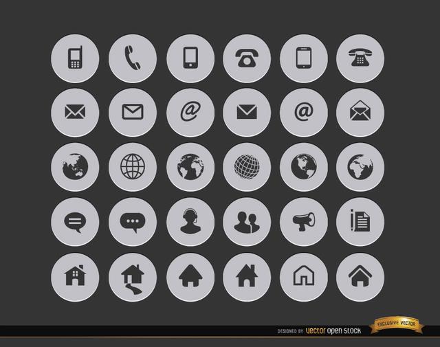 free icons cv contact
