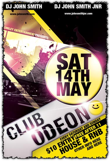 16 Photoshop Club Flyer Templates Free Images - Free Psd Club Flyer