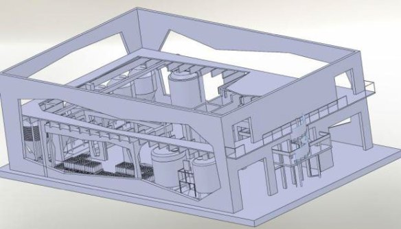 Pictured above is the 3D model for our brewery.