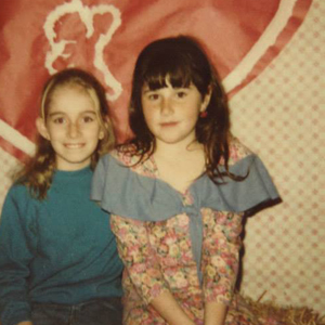 The author (left) in 4th grade with her best friend.