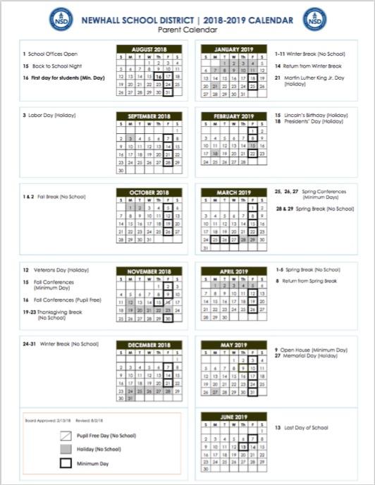 Calendars  Bell Schedule / Parent Calendar