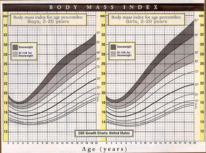 BMI Chart for Children New Health Advisor