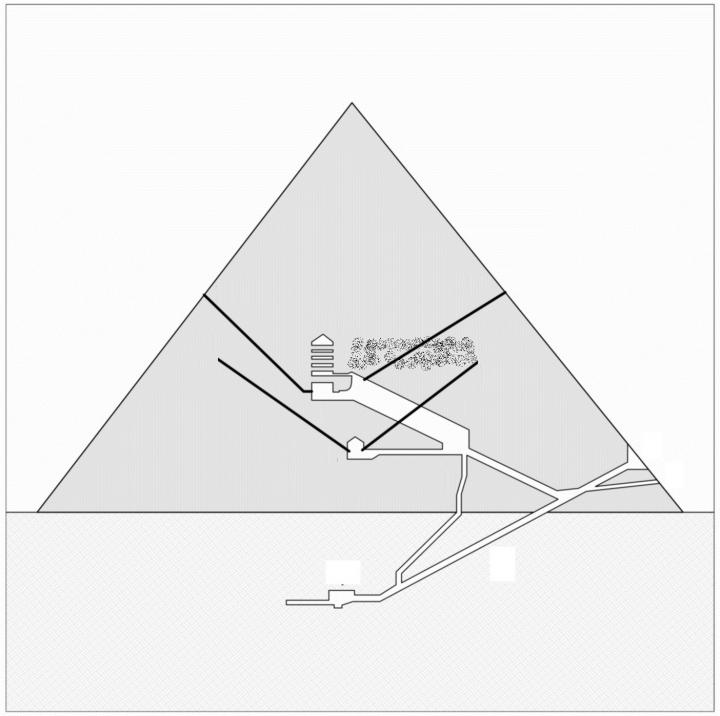 An Iron Throne in the Great Pyramid? - The History News of the Week - diagram of a pyramid