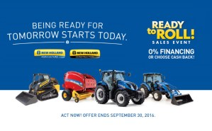New Holland Ready To Roll Sales Event