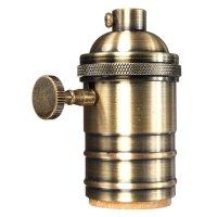 Newhouse Lighting Vintage Pendant Lamp Holder Brass Light ...