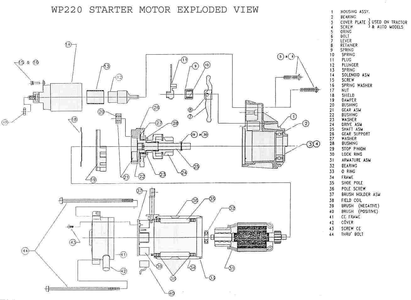 delco remy starter parts diagram