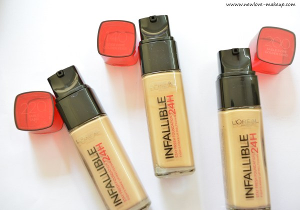 L'Oreal Paris Infallible Reno Stay Fresh 24H Liquid Foundation Review,Swatches,Demo