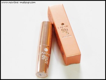 Lakme 9 to 5 Lip Color Pink Bureau Review, Swatches, Indian Makeup and Beauty Blog