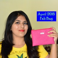 April 2016 Fab Bag Review, Unboxing