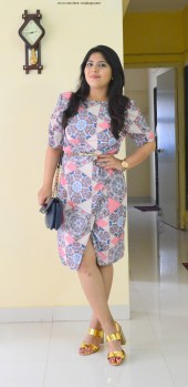 OOTD: Abstract Print Overlapping Shift Dress, Indian Fashion Blog, StalkBuyLove